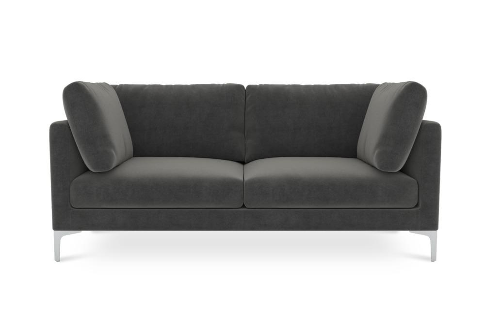 Adams 2 Seater Sofa, Moon Grey (Silver Leg)