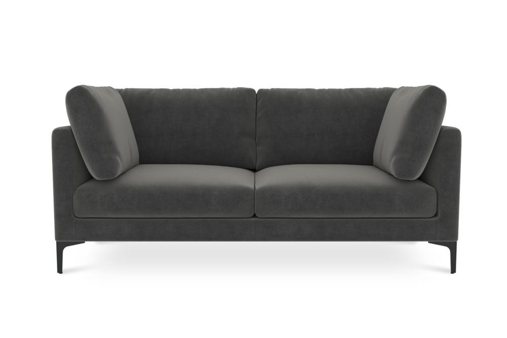 Adams 2 Seater Sofa, Moon Grey (Black Leg)