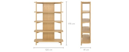 dimension of Bambu Tall Shelf