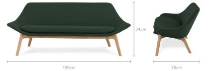 dimension of Gable 3 Seater Sofa