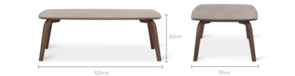 dimension of Vincent Coffee Table