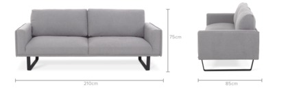 dimension of Marco 3 Seater Sofa