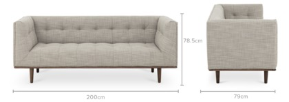 dimension of Jeanne 3 Seater Sofa