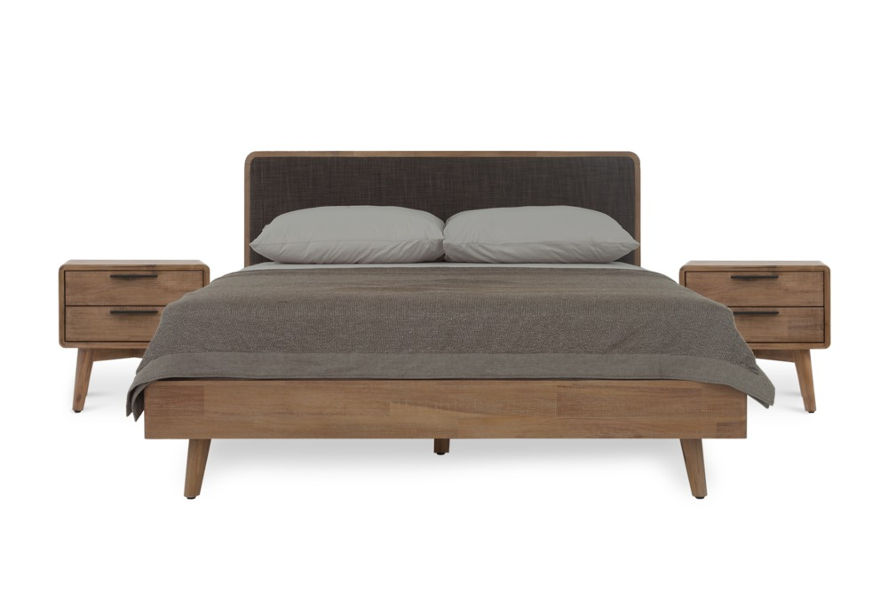Seb Bed With 2 Seb Bedside Tables Queen Castlery Australia