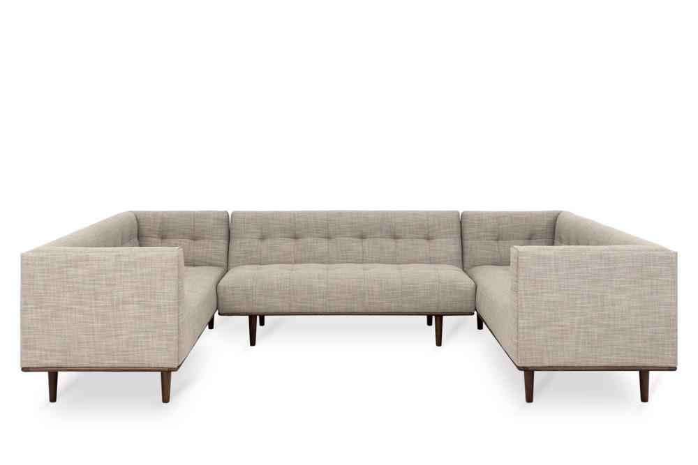 Jeanne U Shape Sectional Sofa Sand Grey Castlery Australia