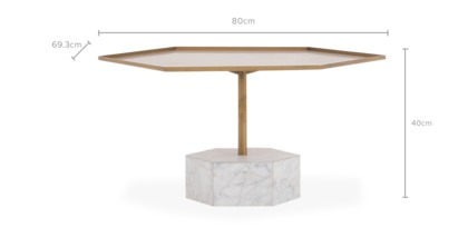dimension of Ava Coffee Table
