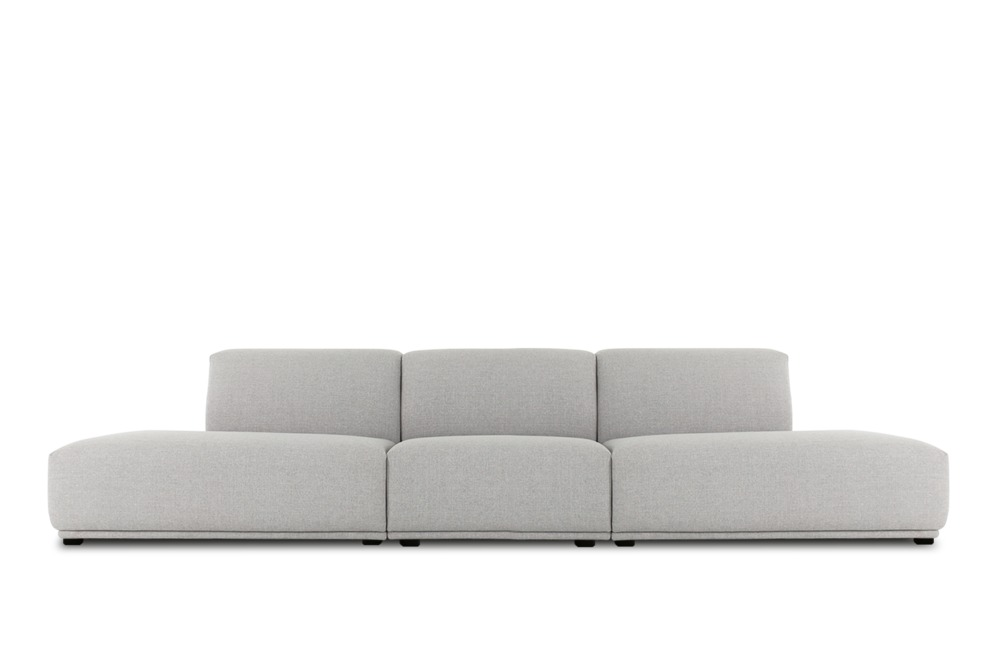 Todd Extended Chaise Sofa Light Grey Castlery Australia