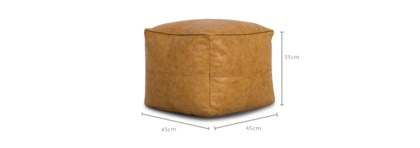 dimension of Brooks Leather Pouf