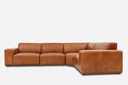 Ordinaire Todd Extended Sectional Sofa Leather 0