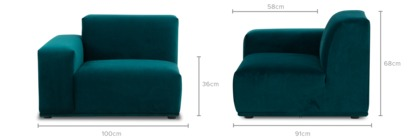 dimension of Todd Left Corner Sofa