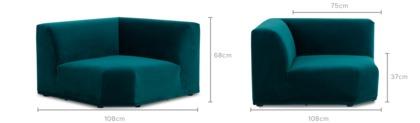 dimension of Todd Corner Sofa