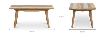 dimension of Spot Coffee Table, 90cm