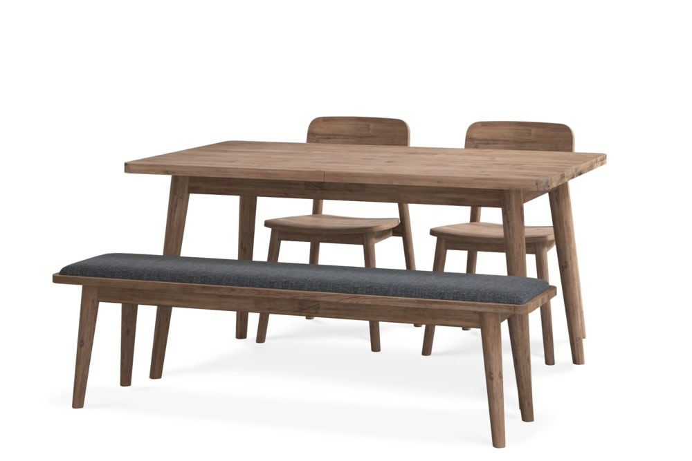 Seb Extendable Dining Table With Bench And 2 Chairs Castlery Australia