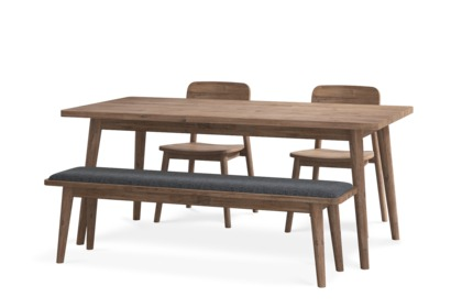 Seb Dining Table With Bench And 2 Chairs