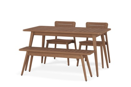Roy Extendable Table With Bench And 2 Chairs