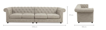 dimension of Jacques 4.5 Seater Sofa