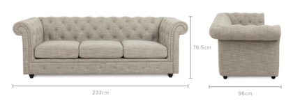 dimension of Jacques 3 Seater Sofa