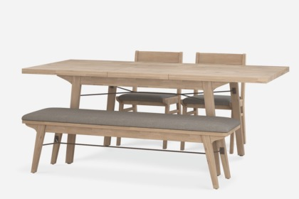 Miles Extendable Dining Table With Bench And 2 Chairs Castlery Australia