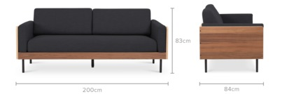 dimension of William Sofa