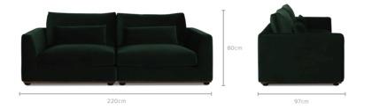 dimension of Alfie 2 Seater Sofa