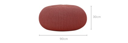 dimension of Laura Large Pouf