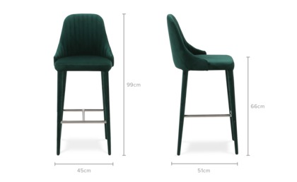 dimension of Torri Counter Chair