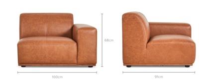 dimension of Todd Right Corner Sofa Leather