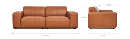 dimension of Todd Sofa Leather