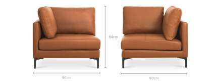 dimension of Adams Corner Sofa Leather