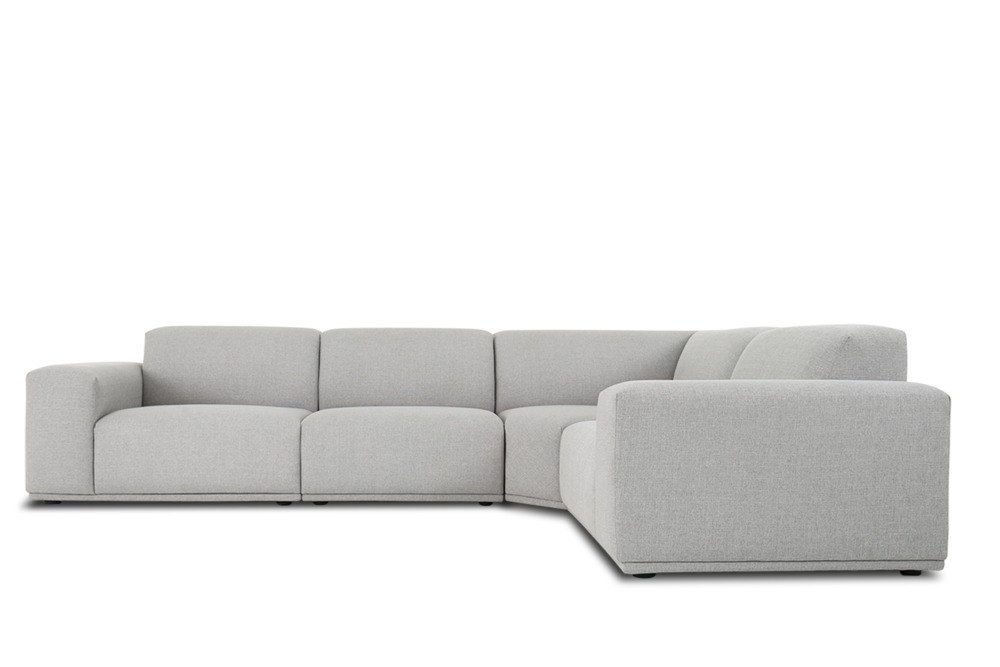 Todd Extended Sectional Sofa Light Grey Castlery Australia