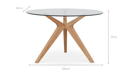 dimension of Bess Round Dining Table, 120cm
