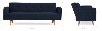 dimension of Nathan Sofa Bed