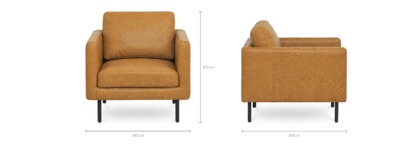 dimension of Nash Armchair Leather