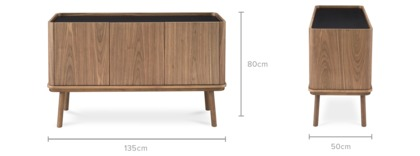 dimension of Strato Sideboard Walnut