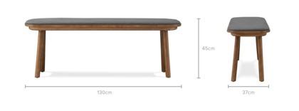 dimension of Strato Low Bench Walnut