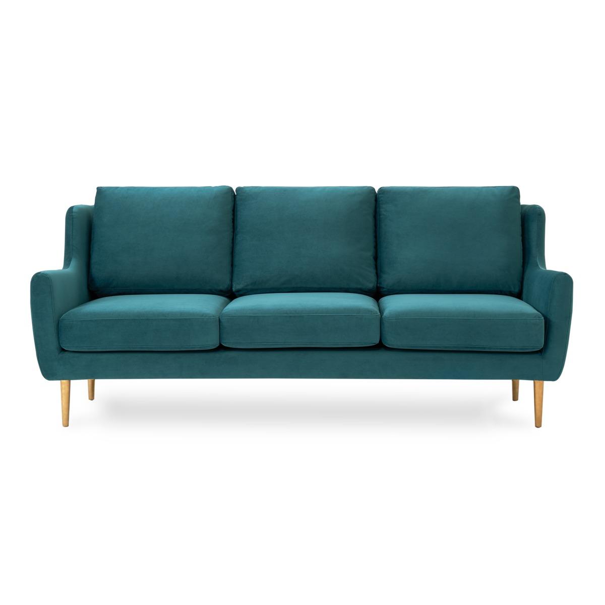 Adelphi 3 Seater Sofa, Deep Teal Velvet