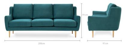 dimension of Adelphi 3 Seater Sofa