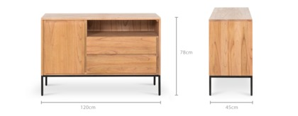 dimension of Alexander Sideboard, 120cm