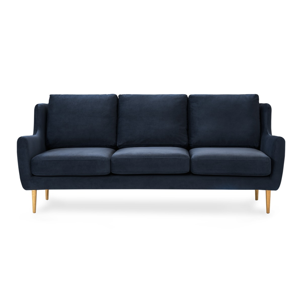 Adelphi 3 Seater Sofa, Midnight Blue Velvet