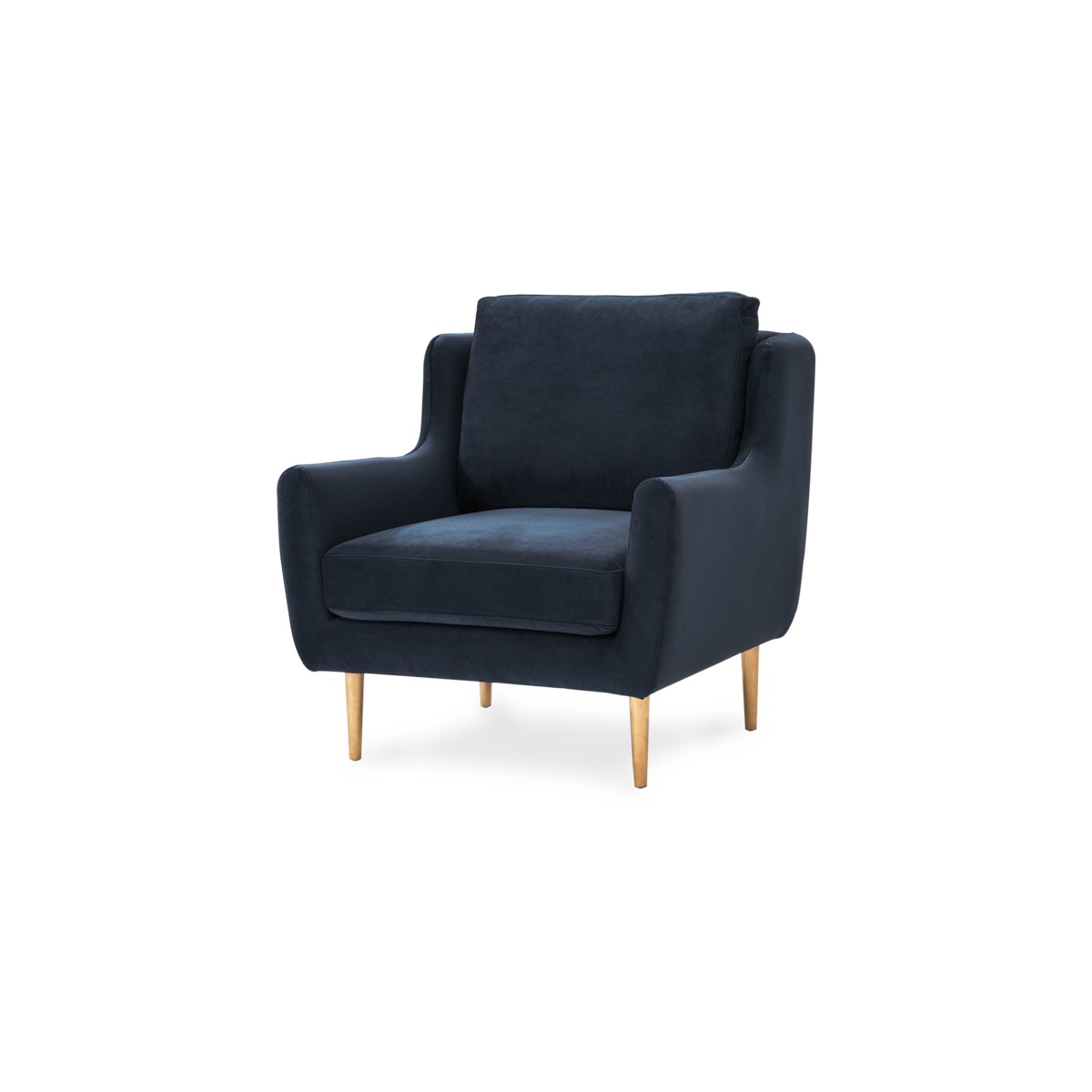 Adelphi Armchair, Midnight Blue Velvet