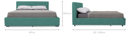 dimension of Nelson Storage Bed