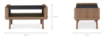 dimension of Strato Coffee Table Walnut, 90cm