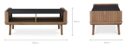 dimension of Strato Coffee Table Walnut, 120cm