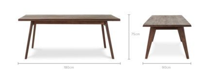 dimension of Vick Dining Table