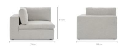 dimension of Noah Corner Sofa