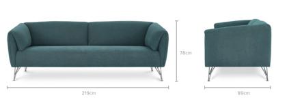 dimension of Gianni 3 Seater Sofa