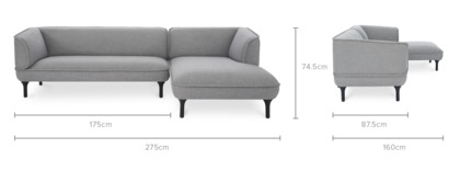 dimension of Bickerton Sofa Sectional