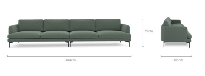 dimension of Pebble 4.5 Seater Sofa
