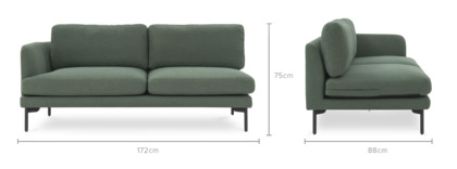 dimension of Pebble Left Facing 2 Seater Sofa