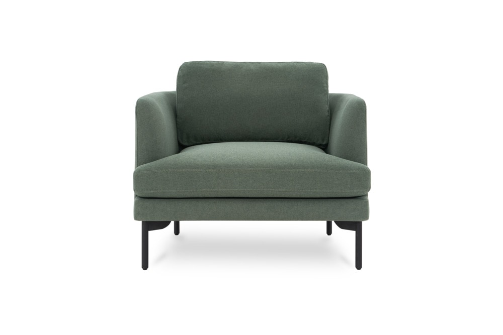 pebble armchair material=forest green